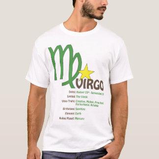 T-shirt dos traços do Virgo Camiseta