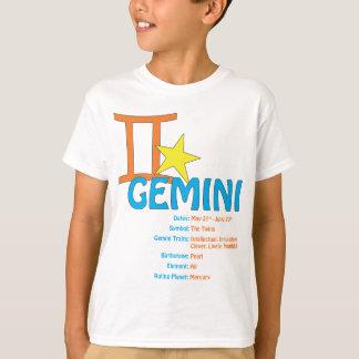 T-shirt dos traços dos Gêmeos Camiseta