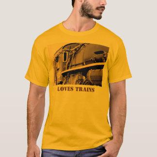 T-shirt dos trens dos amores camiseta