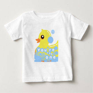 T-shirt Ducky de borracha do bebê/criança Camiseta Para Bebê
