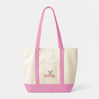 T-shirt e presentes cor-de-rosa da páscoa do bolsas para compras