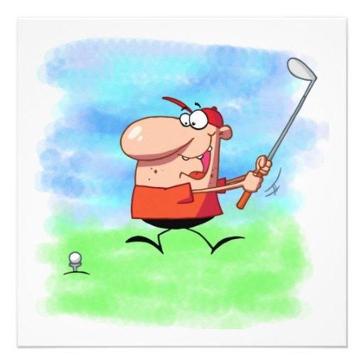 T-shirt e presentes da excursão do golfe convite personalizados