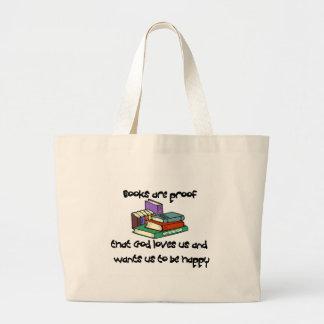 T-shirt e presentes da leitura sacola tote jumbo