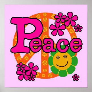 t-shirt e presentes da paz do estilo 60s impressão