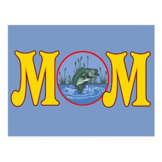 T-shirt e presentes da pesca para a mamã cartão postal