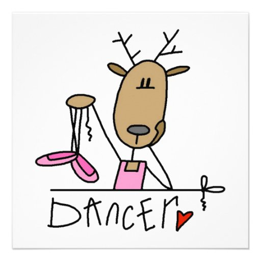 T-shirt e presentes da rena do dançarino convite