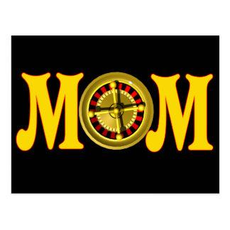 T-shirt e presentes de jogo para a mamã cartão postal