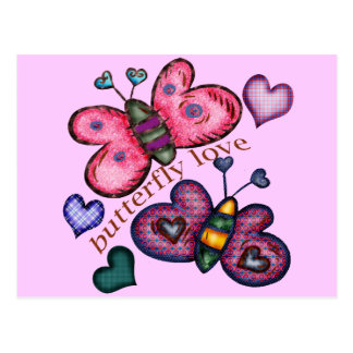 T-shirt e presentes do amor da borboleta para ela cartão postal