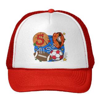 T-shirt e presentes do aniversário de All Star 5os Boné