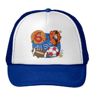 T-shirt e presentes do aniversário de All Star 6os Boné