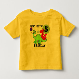 T-shirt e presentes do aniversário do dinossauro 5