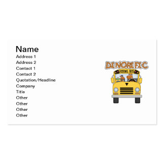 T-shirt e presentes do auto escolar de Dinorific Cartão De Visita
