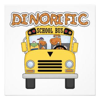 T-shirt e presentes do auto escolar de Dinorific Convite Personalizado