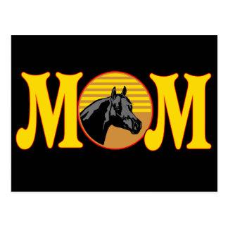 T-shirt e presentes do cavalo para a mamã cartão postal