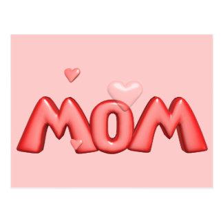 T-shirt e presentes do coração para a mamã cartão postal