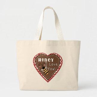 T-shirt e presentes do mel eu te amo bolsas para compras