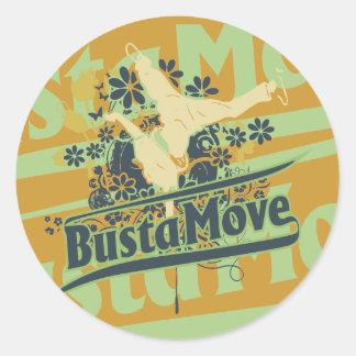 T-shirt e presentes do movimento de Busta Adesivo Em Formato Redondo