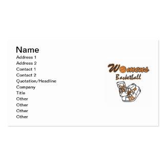 T-shirt e presentes dos calçados de basquetebol cartão de visita