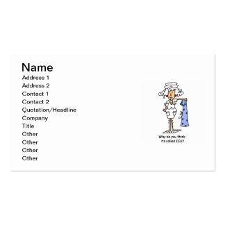 T-shirt e presentes engraçados da enfermeira de IC Cartões De Visitas