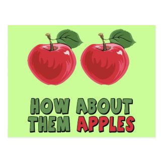 T-shirt e presentes engraçados das maçãs para ela cartão postal