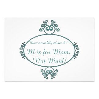 T-shirt e presentes engraçados do conselho da mãe  convites personalizado