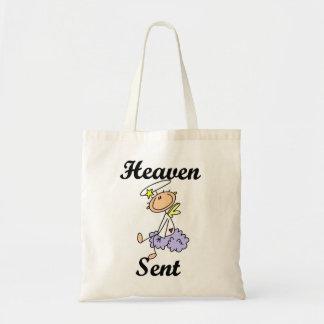 T-shirt e presentes enviados céu do anjo bolsas