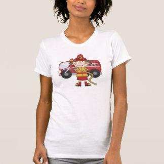 T-shirt e presentes fêmeas do sapador-bombeiro
