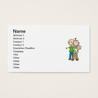 T-shirt e presentes novos do bebê dos pais novos cartão de visitas