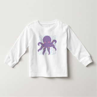 T-shirt e presentes roxos do polvo camiseta infantil