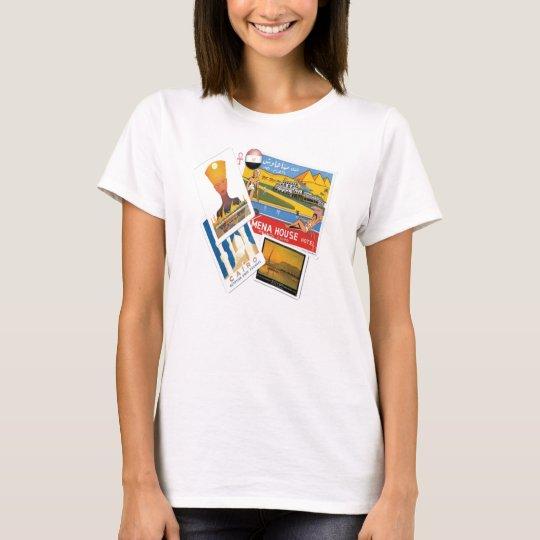 T-shirt egípcio dos posters das viagens vintage camiseta
