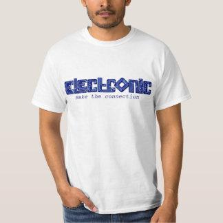 T-shirt eletrônico da conexão do estilo do PWB do