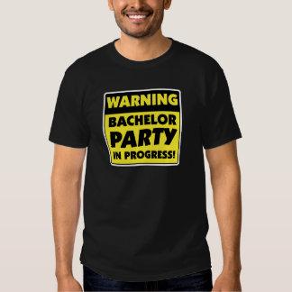 T-shirt em andamento do despedida de solteiro de