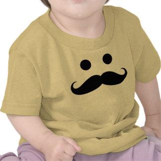 T-shirt engraçado da criança do smiley do bigode