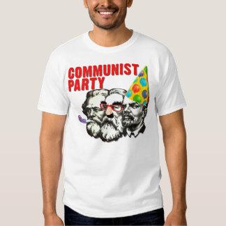 T-shirt engraçado da paródia do partido comunista