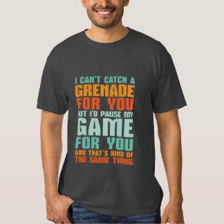 T-shirt engraçado do amor do Gamer eu pauso meu