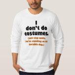 T-shirt engraçado do Dia das Bruxas do Anti-Traje