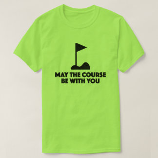 T-shirt engraçado do golfe camiseta