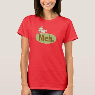 T-shirt engraçado do jogo de palavras de Meh Camiseta