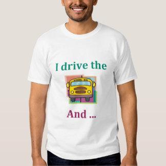 T-shirt engraçado do motorista de auto escolar