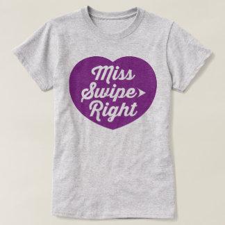 T-shirt engraçado do slogan da senhorita Furto Camiseta