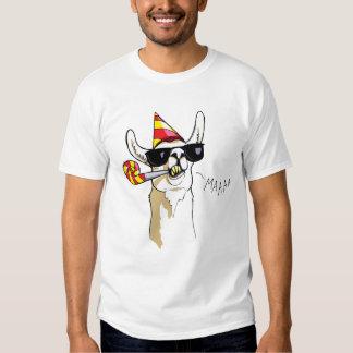 T-shirt engraçado legal do lama do partido com