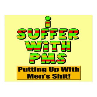 T-shirt engraçados e presentes de PMS para ela Cartão Postal