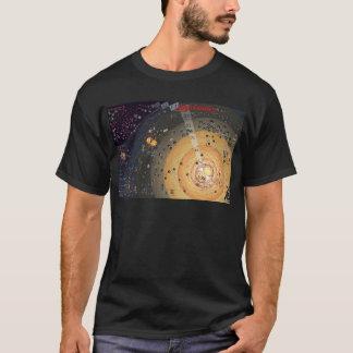 T-shirt escuro, colonização da fronteira alta camiseta