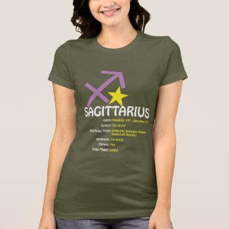 T-shirt escuro das senhoras dos traços do camiseta