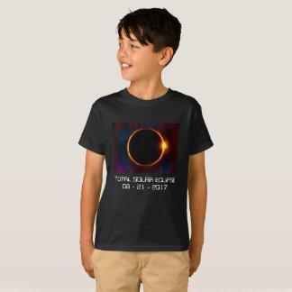 T-shirt escuro do eclipse 2017 solar camiseta