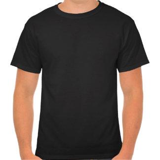 T-shirt escuro do geek da informação (preto do log
