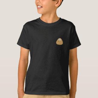 T-shirt escuro dos miúdos com ícone de Pou Camiseta