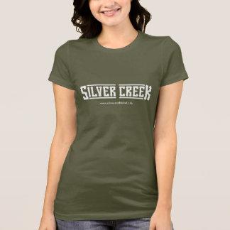 T-shirt escuro - logotipo branco camiseta