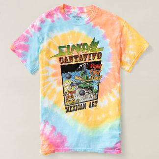 T-shirt espiral da Laço-Tintura de Cantavivo do Camiseta