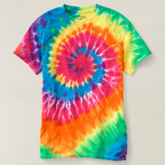 T-shirt espiral da Laço-Tintura dos homens Camiseta